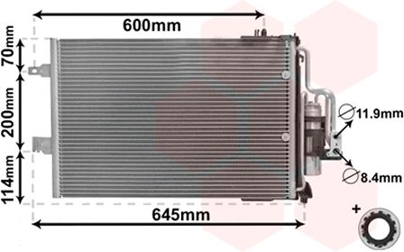 Condenseur, climatisation - VWA - 88VWA37005385