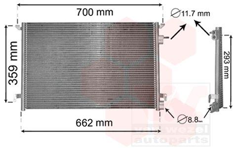 Condenseur, climatisation - VWA - 88VWA37005397