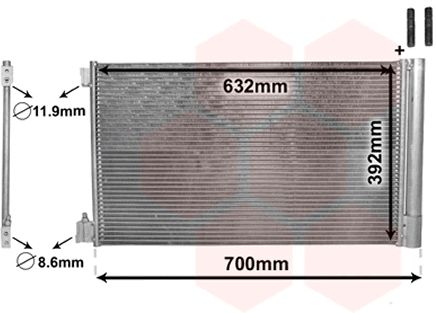 Condenseur, climatisation - VAN WEZEL - 37005478