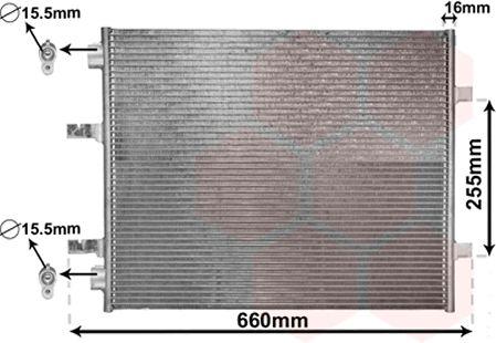 Condenseur, climatisation - VAN WEZEL - 37005480
