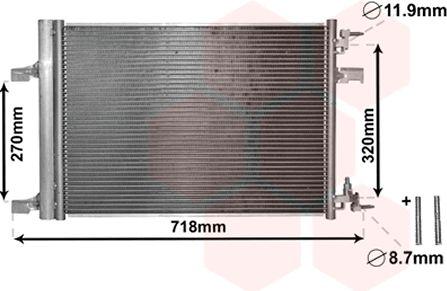 Condenseur, climatisation - VAN WEZEL - 37005500