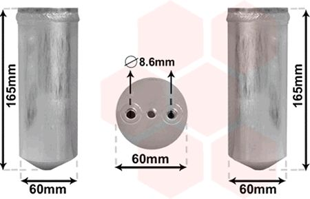 Filtre déshydratant, climatisation - VAN WEZEL - 3700D351