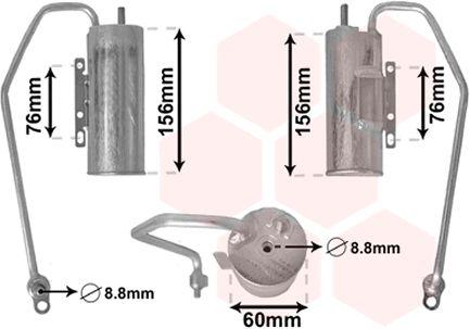 Filtre déshydratant, climatisation - VAN WEZEL - 3700D398