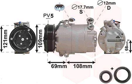 Compresseur, climatisation - VWA - 88VWA3700K317