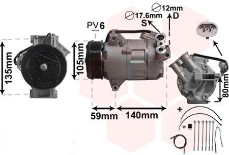 Compresseur, climatisation - VWA - 88VWA3700K437