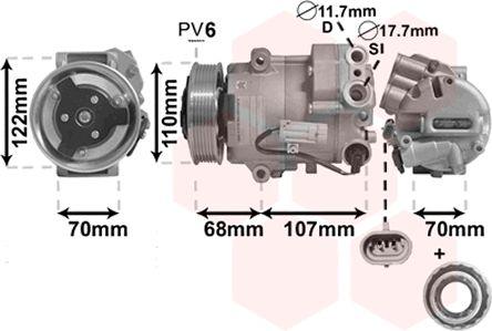 Compresseur, climatisation - VWA - 88VWA3700K594
