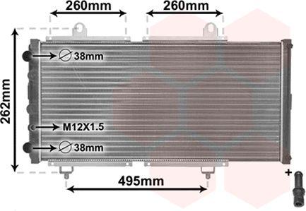 Radiateur, refroidissement du moteur - VAN WEZEL - 40002033