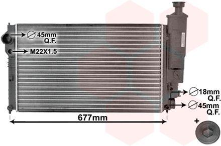Radiateur, refroidissement du moteur - VAN WEZEL - 40002131