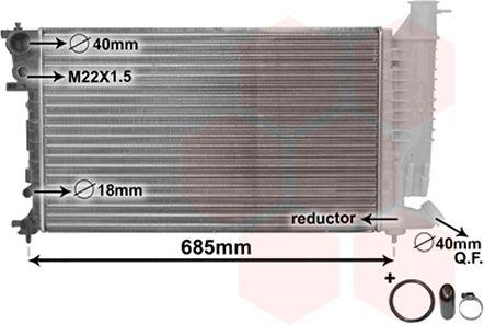 Radiateur, refroidissement du moteur - VAN WEZEL - 40002140