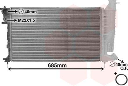 Radiateur, refroidissement du moteur - VAN WEZEL - 40002141