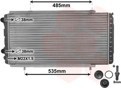Radiateur, refroidissement du moteur - VWA - 88VWA40002150
