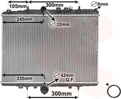Radiateur, refroidissement du moteur - VAN WEZEL - 40002198