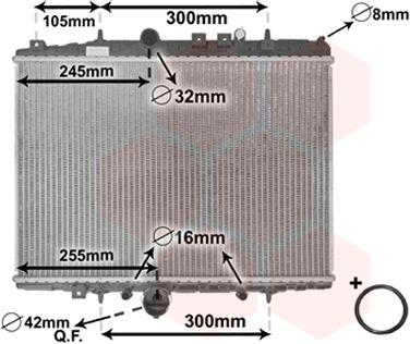 Radiateur, refroidissement du moteur - VWA - 88VWA40002201