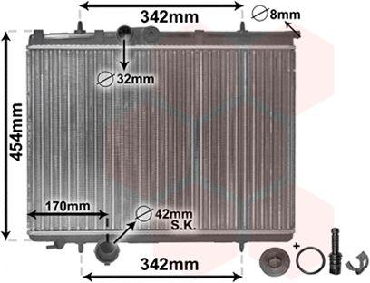 Radiateur, refroidissement du moteur - VAN WEZEL - 40002210