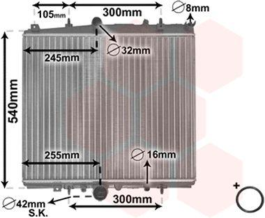 Radiateur, refroidissement du moteur - VWA - 88VWA40002237