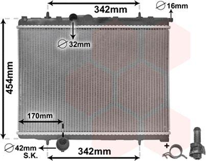 Radiateur, refroidissement du moteur - VAN WEZEL - 40002247
