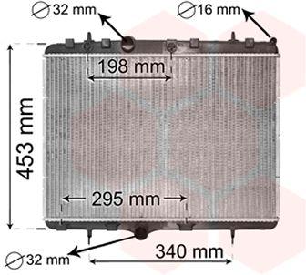Radiateur, refroidissement du moteur - VAN WEZEL - 40002255