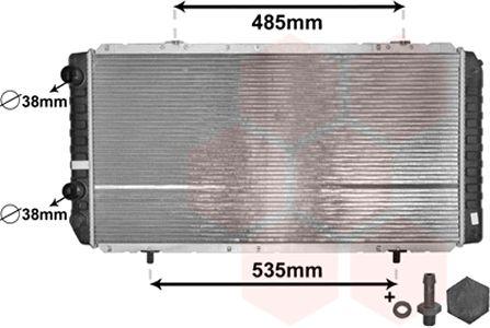Radiateur, refroidissement du moteur - VAN WEZEL - 40002268