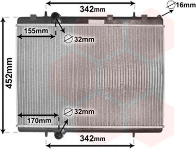Radiateur, refroidissement du moteur - VAN WEZEL - 40002281