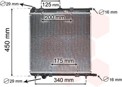 Radiateur, refroidissement du moteur - VAN WEZEL - 40002289