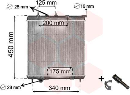 Radiateur, refroidissement du moteur - VAN WEZEL - 40002298