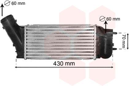 Intercooler, échangeur - VAN WEZEL - 40004335