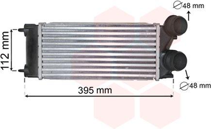 Intercooler, échangeur - VAN WEZEL - 40004343