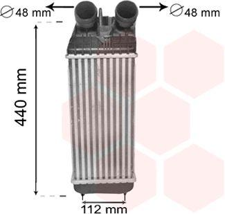 Intercooler, échangeur - VAN WEZEL - 40004361
