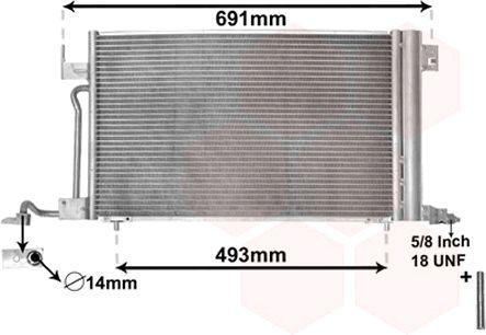 Condenseur, climatisation - VAN WEZEL - 40005186