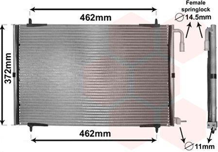Condenseur, climatisation - VAN WEZEL - 40005191