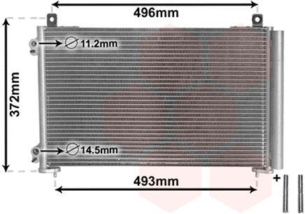 Condenseur, climatisation - VAN WEZEL - 40005258