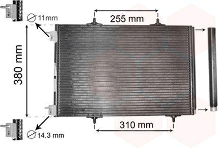 Condenseur, climatisation - VAN WEZEL - 40005291
