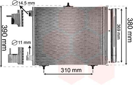 Condenseur, climatisation - VAN WEZEL - 40005295