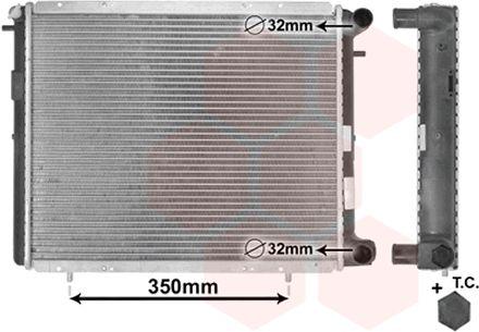 Radiateur, refroidissement du moteur - VAN WEZEL - 43002045