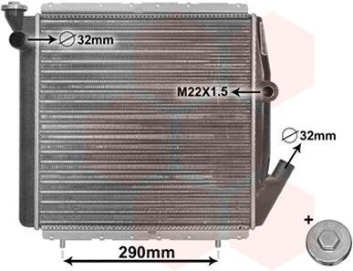 Radiateur, refroidissement du moteur - VWA - 88VWA43002070