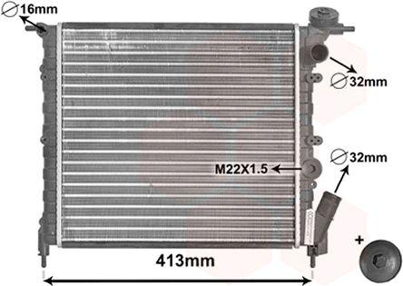 Radiateur, refroidissement du moteur - VAN WEZEL - 43002120