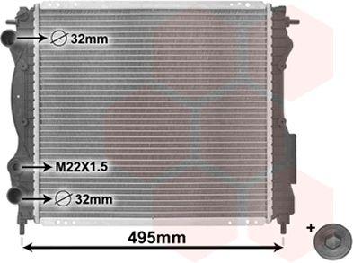 Radiateur, refroidissement du moteur - VAN WEZEL - 43002129