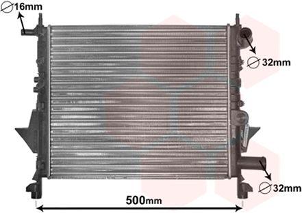 Radiateur, refroidissement du moteur - VAN WEZEL - 43002217