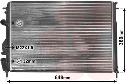 Radiateur, refroidissement du moteur - VAN WEZEL - 43002241