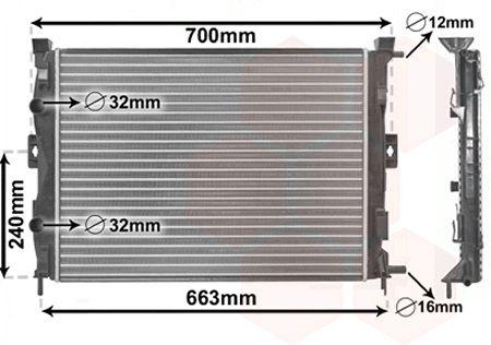 Radiateur, refroidissement du moteur - VAN WEZEL - 43002306