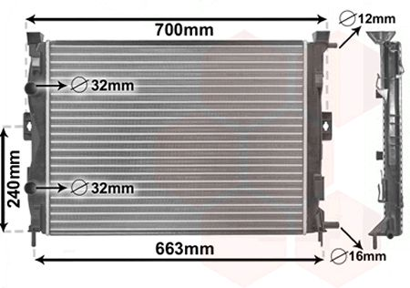 Radiateur, refroidissement du moteur - VWA - 88VWA43002306