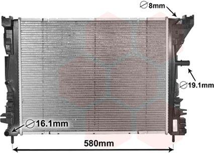 Radiateur, refroidissement du moteur - VAN WEZEL - 43002608