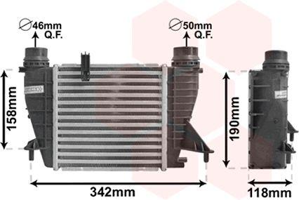 Intercooler, échangeur - VAN WEZEL - 43004553