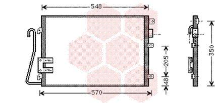 Condenseur, climatisation - VAN WEZEL - 43005275