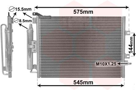 Condenseur, climatisation - VAN WEZEL - 43005395