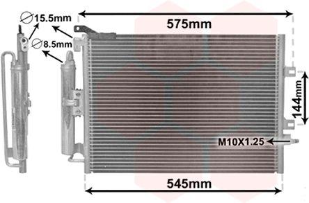 Condenseur, climatisation - VAN WEZEL - 43005417