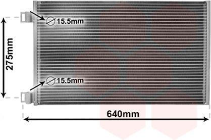 Condenseur, climatisation - VAN WEZEL - 43005444