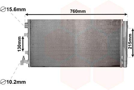 Condenseur, climatisation - VAN WEZEL - 43005449
