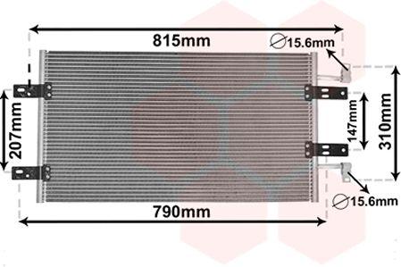 Condenseur, climatisation - VAN WEZEL - 43005451