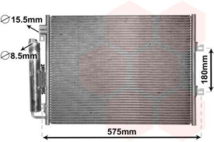 Condenseur, climatisation - VAN WEZEL - 43005454